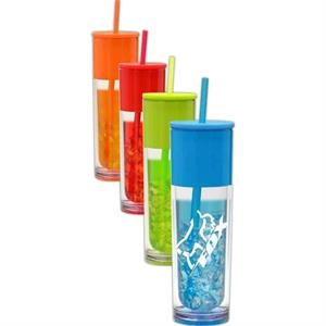 Aqua - 16 Oz. Bpa Free Tumbler With Double Wall Construction