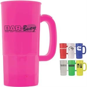 22 Oz. Beer Stein With Thumb-grip Handle
