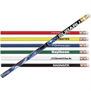 Thrifty - Quality #2 Graphite Lead Imported Wood Pencil, Full Color Digital