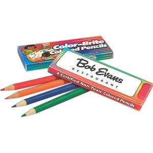 Color-brite - Colored Pencils 4 Colors Per Box