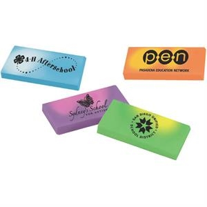 Eraser With A Rectangle Design And Changes Color With The Heat Of Your Hand
