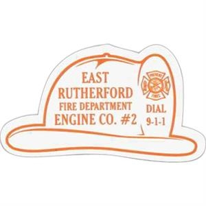 Fire Helmet - Stock Shape Vinyl Magnet, Approximately .020 Thickness