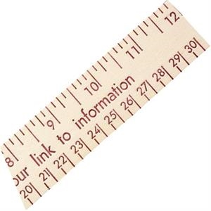 "Natural Finish 12"" Wood Ruler With English And Metric Scale"