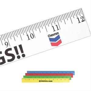"Enamel Wood 12"" Ruler With English Scale"