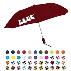 "Star Folding Umbrella With Rubberized Handle And Automatic Open; 43"" Arc"