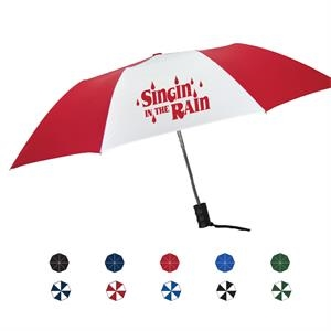 "Drizzle Automatic Open Umbrella With Black Plastic Handle And Steel Frame; 42"" Arc"