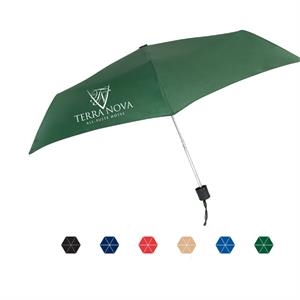"Nova Manual Open & Close Umbrella With A Lightweight Frame And Steel Shaft; 42"" Arc"