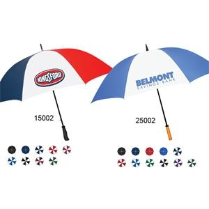 "Hurricane Golf Umbrella With Fiberglass Wind Resistant Frame, Shaft & Ribs, 64"" Arc"