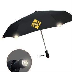 Nite-lite Umbrella With Auto Open & Close And 3m Scotchlite (tm) Reflective Corners