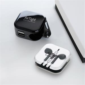 Ac/dc Charger With High Quality Stereo Earphone