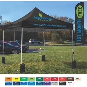 2 Locations - Durable Event Tent Canopy And Frame With 600 Denier Storage Bag