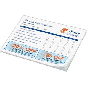 "Post-it (r) Brand - Notes - 6"" X 8"", 50 Sheets, 2 Color - Custom Printed Notepads"