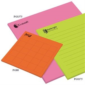 "Post-it (r) Brand - Notes - 8"" X 8"", 20 Sheets, 1 Color - Custom Printed Big Pad"