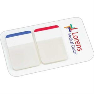 "Post-it (r) - Durable 1"" Filing Tabs, On Back Card, 2 Color Imprint"
