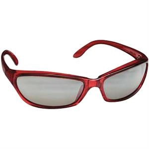 Translucent Red Frame - Tinted Lenses - Safety Eyewear With Lightweight Wrap-around Design