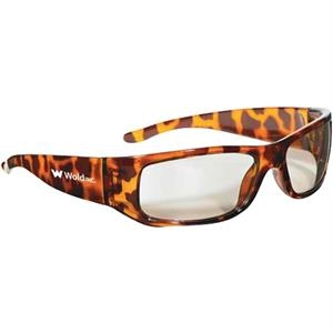 Tortoiseshell Frame - Indoor/outdoor Mirrored Lenses - Safety Eyewear With Lightweight Wrap-around Design