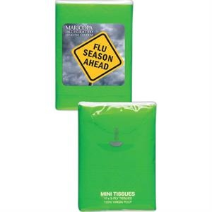 Lime Green - Mini Tissue Packs