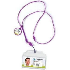Purple - Zipper Lanyard