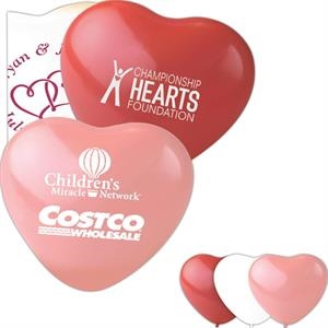 "Heart Shaped, 24"" Latex Balloon. Helium Quality. 100% Biodegradable"