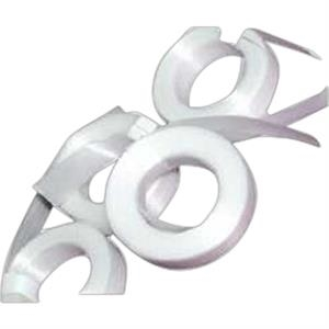 White Cut Ribbon. Balloon Accessory