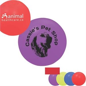 "Squeaky Pet Play Ball, 4 1/2"". Made Of A Soft Vinyl With A Squeaker Inside"