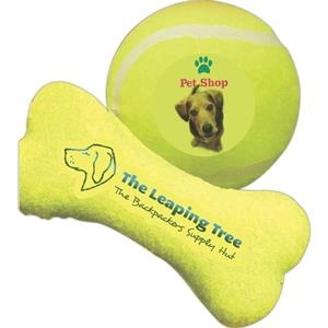 Bone Shaped Toy Tennis Ball With Full Color Process