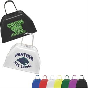 "Cowbell, 3"". Sturdy Metal. Choose From 7 Cool Colors"