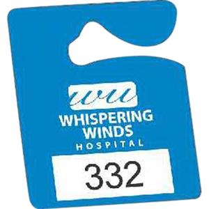 "Numbered .010"" White Reflective Plastic - Durable Plastic Hanging Parking Permit, 2 1/2"" X 3"""