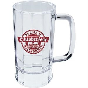 "Beer Mug Made Of Clear Styrene, 4.5"" X 6"". 14 Oz"