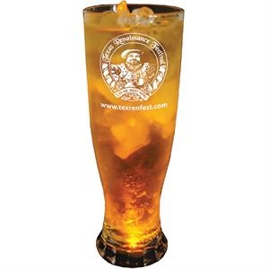 Single Light 22 Oz Clear Styrene Pilsner