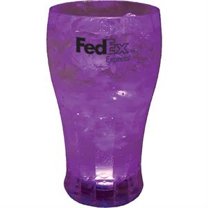 Lighted Soda Cup, 12 Oz Made Of Clear Styrene