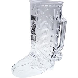 "Cowboy - Boot Mug Made Of Clear Styrene, 6.5"" X 7.375"". 20 Oz"