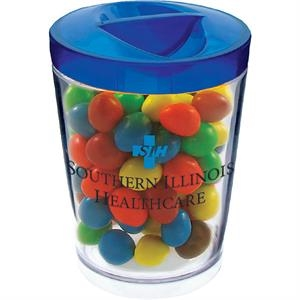 Candy Jar With Lid Made Of Styrene. 12 Oz