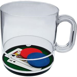 Blackjack - 12 Oz Compartment Coffee Mug, Casino Theme