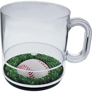 Batter Up - 12 Oz Compartment Coffee Mug, Sports Theme