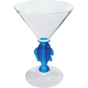 "Fish - Novelty Stem 10 Oz Martini Glass, 4.75""w X 6.5""h"