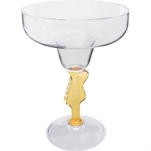 "Guitar - Novelty Stem 12 Oz Margarita Glass, 4.75""w X 6.375""h"