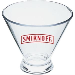 3 Oz Clear Styrene Stemless Martini Glass