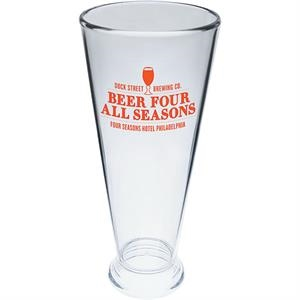 Pilsner Cup Made Of Clear Styrene. 12 Oz
