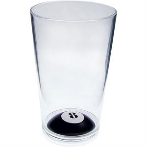 "8-ball - Sport Pint Made Of Clear Styrene, 3.375"" X 5.375"""