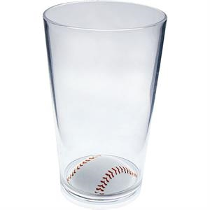 "Baseball - Sport Pint Made Of Clear Styrene, 3.375"" X 5.375"""