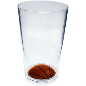 "Basketball - Sport Pint Made Of Clear Styrene, 3.375"" X 5.375"""