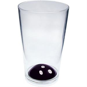 "Bowling - Sport Pint Made Of Clear Styrene, 3.375"" X 5.375"""