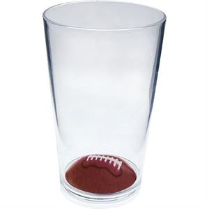 "Football - Sport Pint Made Of Clear Styrene, 3.375"" X 5.375"""