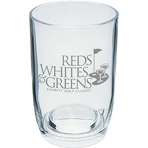 3 Oz Clear Styrene Stemless Wine Glass