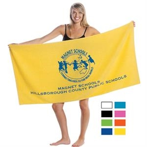 "Printed-colors - Promotional Terry Beach Towel, 8 Lbs/doz, 30"" X 60"""