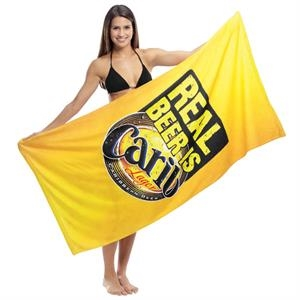 "Sublimation - Subli-cotton Terry Beach Towel, 30"" X 60"""