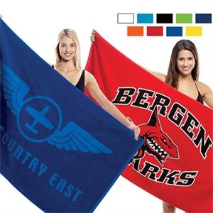 "Blank-colors - Oversized Velour Beach Towel, 35"" X 60"""