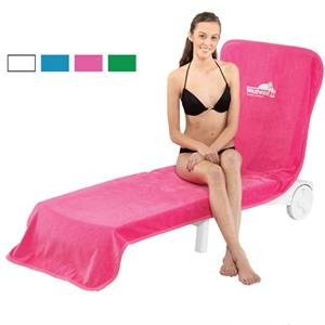 Printed-white - Velour Chaise Lounge Chair Cover