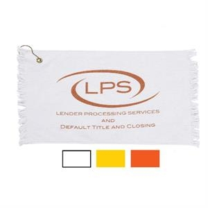 "Specialty Printed-colors - Promotional Fringed Loop Golf And Spirit Towel, 11"" X 18"""